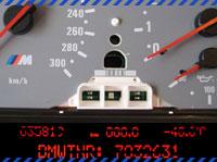 Tacho mit Pixelfehlern vor der Tachoreparatur